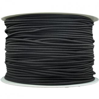 Thick Round Cord Elastic Black (100m bobin)