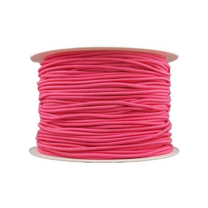 Elastique cordon 2mm Rose (bobine 100m)