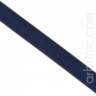 Satin Bias Binding 20mm Dark Blue (by meter)