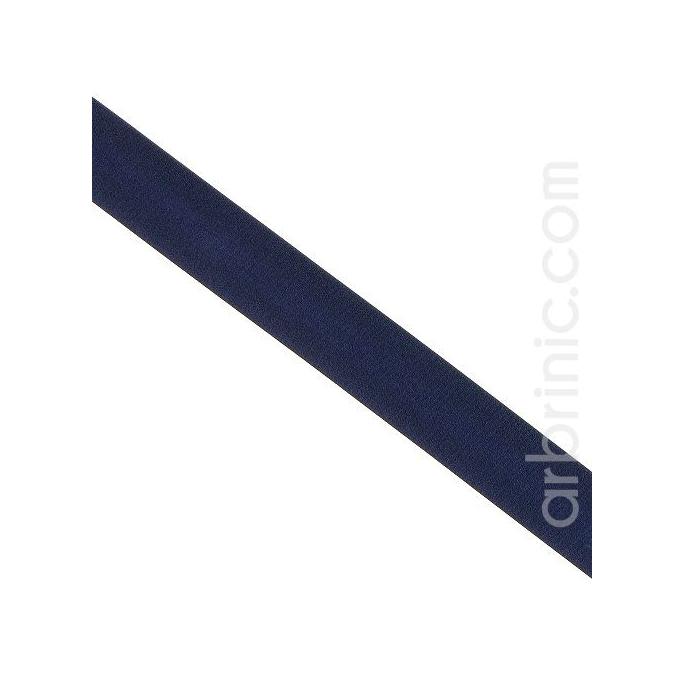 Satin Bias Binding 20mm Dark Blue (by meter)
