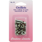 Eyelets 10mm Silver with tool (x20)