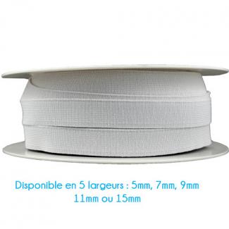 Elastique Bracelet 15mm Blanc (bobine 25m)