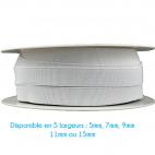 Elastique Bracelet 9mm Blanc (bobine 25m)