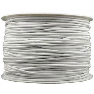 Elastique cordon 2mm Blanc (bobine 100m)