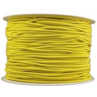 Elastique cordon 2mm Jaune (au mètre)