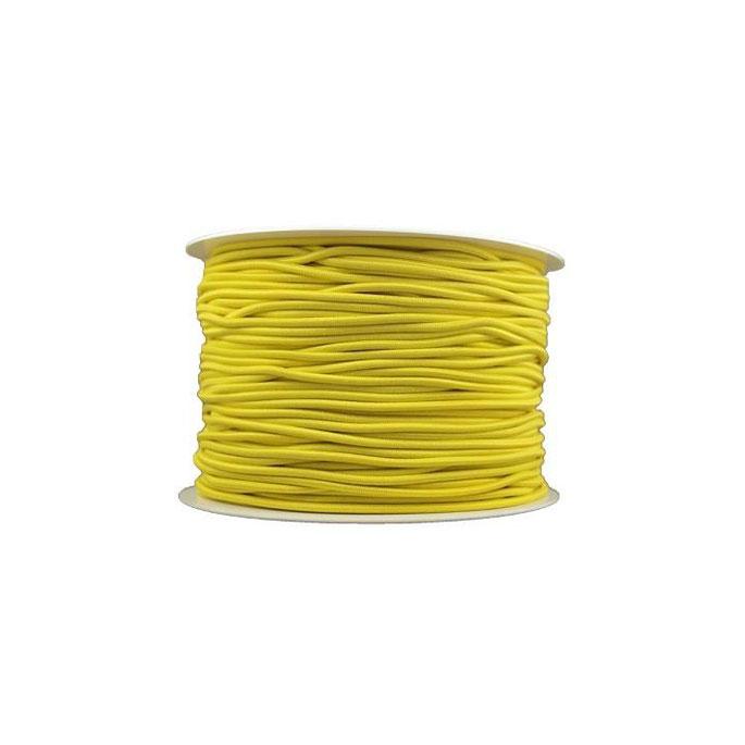 Elastique cordon 2mm Jaune (bobine 100m)
