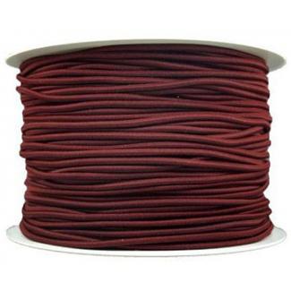 Elastique cordon 2mm Chocolat (bobine 100m)