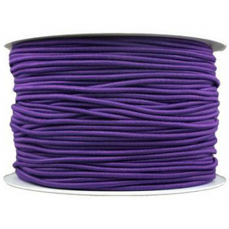Thick Round Cord Elastic Purple (by meter)