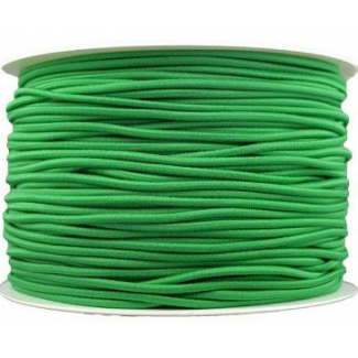 Thick Round Cord Elastic Green (by meter)