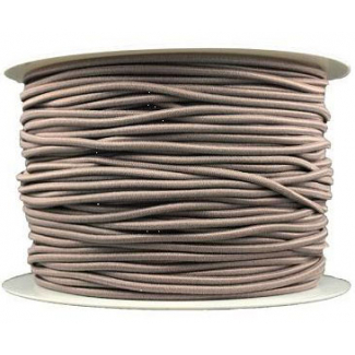 Thick Round Cord Elastic Taupe (by meter)