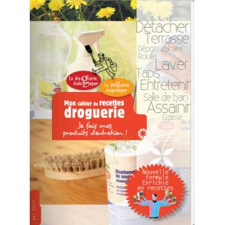 Mon cahier de recettes droguerie écologique (54p)