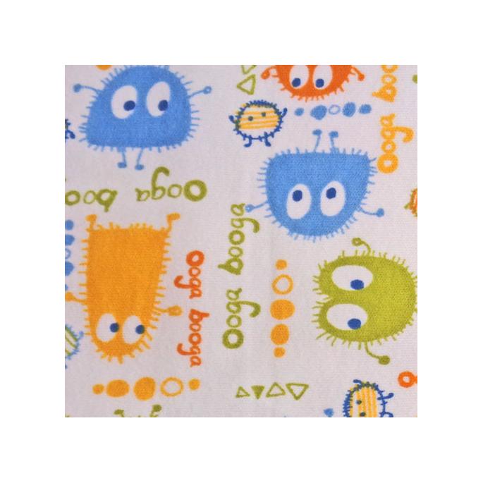 PUL poly print Ooga Booga Blue Orange Green 140cm (per 10cm)