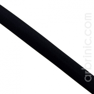 Satin Bias Binding 20mm Black (by meter)