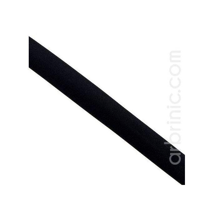 Satin Bias Binding 20mm Black (by meter)