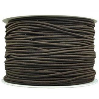 Elastique cordon 2mm Brun (au mètre)