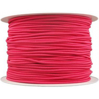 Thick Round Cord Elastic Fushia (by meter)