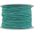 Thick Round Cord Elastic Turquoise (by meter)