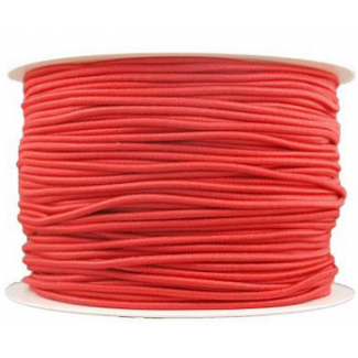 Thick Round Cord Elastic Red (by meter)
