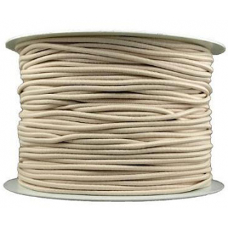Thick Round Cord Elastic Offwhite (100m bobin)