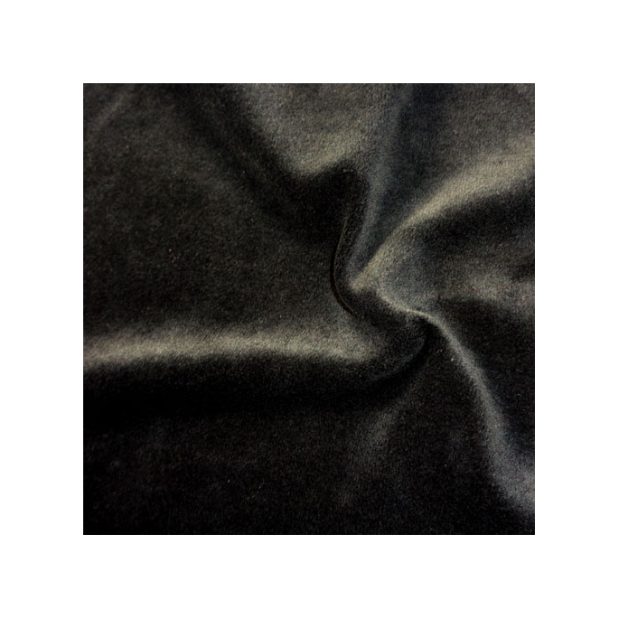Velours de coton Oekotex Noir (au mètre)