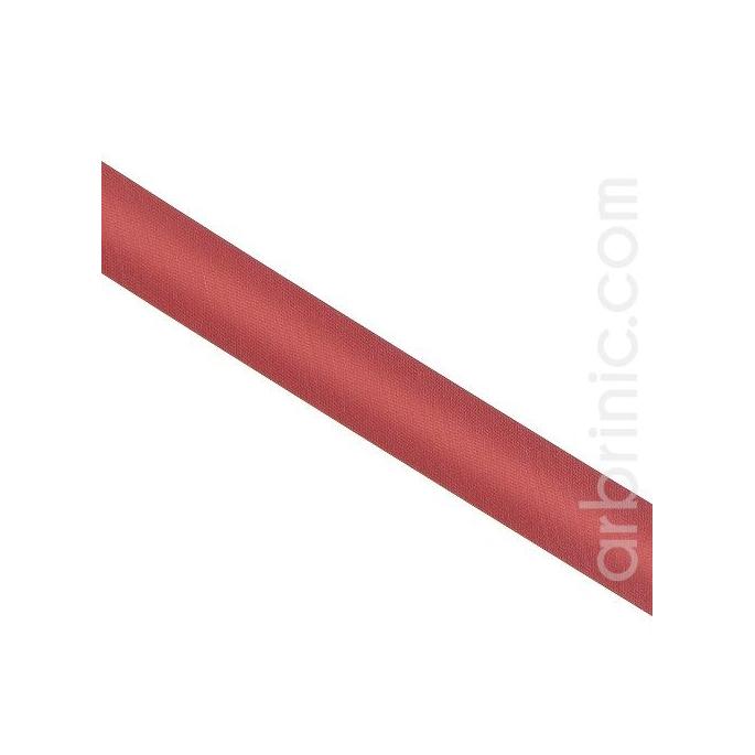 Satin Bias Binding 20mm Terracotta Pink (by meter)