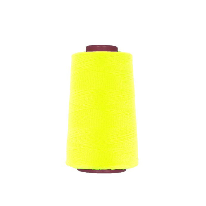 Polyester Serger and sewing Thread Cone (4573m) Neon Yellow