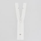 Fermeture fine nylon Non séparable Blanc