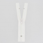 Nylon finished zipper White