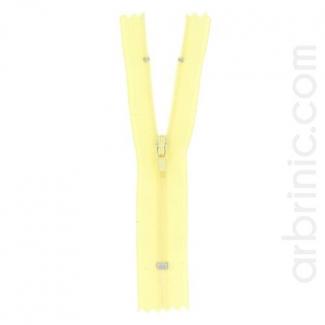 Fermeture fine nylon NS 10cm Jaune Clair