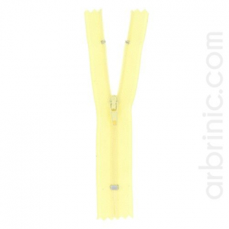 Nylon finished zipper 10cm Light Yellow