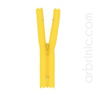 Nylon finished zipper 10cm Buttercup Yellow
