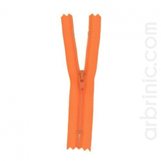 Fermeture fine nylon NS 10cm Orange