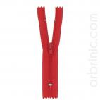 Fermeture fine nylon NS 10cm Rouge