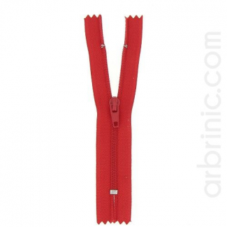 Fermeture fine nylon NS 10cm Rouge