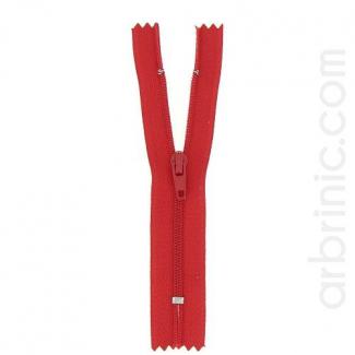 Nylon finished zipper 10cm Red