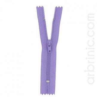 Nylon finished zipper 10cm Light Purple