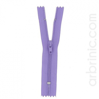 Nylon finished zipper 10cm Light Purple