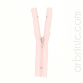 Fermeture fine nylon non séparable Rose Clair