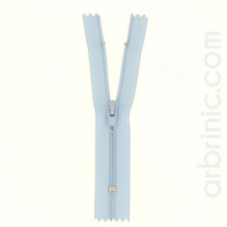 Nylon finished zipper Light Blue