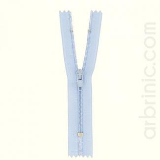 Fermeture fine nylon non séparable Bleu Ciel