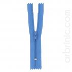 Fermeture fine nylon NS 10cm Bleu de France