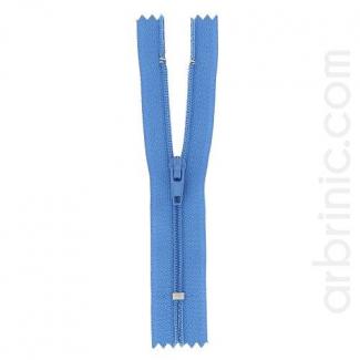 Fermeture fine nylon non séparable Bleu de France