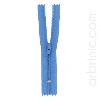 Nylon finished zipper France Blue