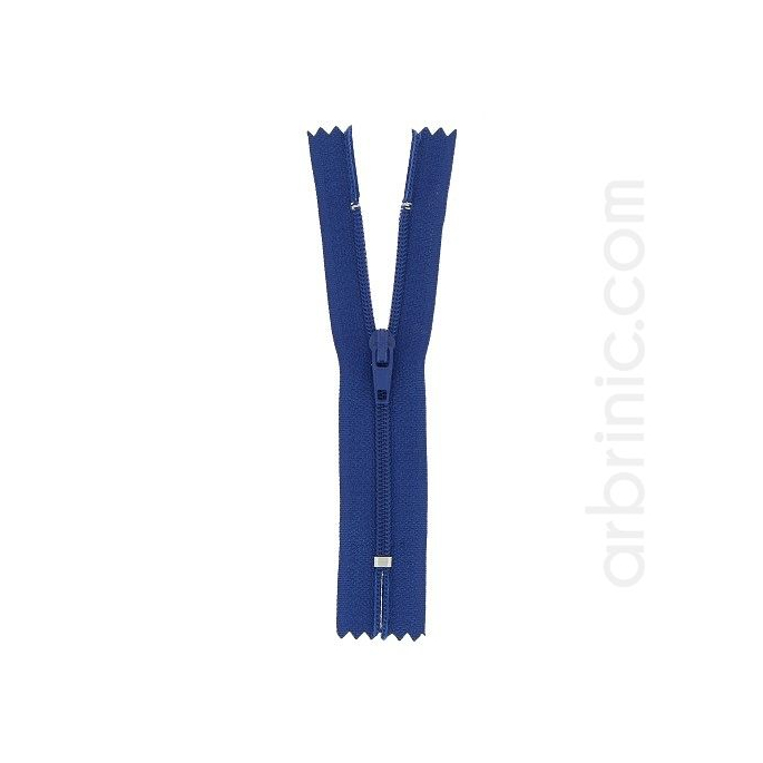 Nylon finished zipper 10cm Navy Blue