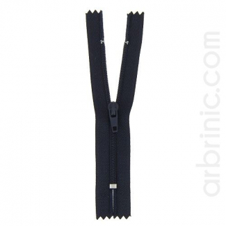 Nylon finished zipper Night Blue