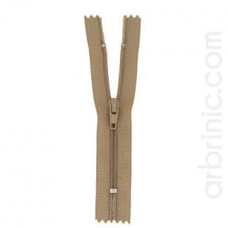 Nylon finished zipper 10cm Dark Beige