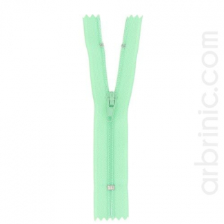 Nylon finished zipper Celadon Green