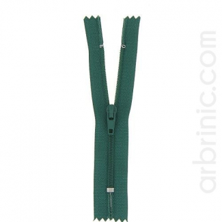 Nylon finished zipper Bottle Green