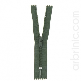 Nylon finished zipper Dark Kaki