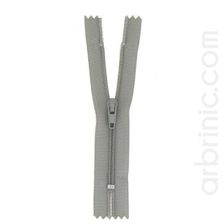 Nylon finished zipper Mouse Grey